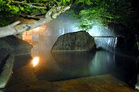 川湯温泉駅に近く、源泉100%掛け流しの露天風呂を備えた浴場と混浴大露天風呂も!ご主人が養殖するテラピア料理が自慢の湯宿